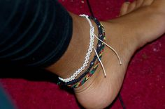 summery, beachy, friendship anklets :)