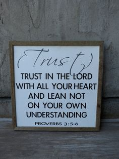 Trust in the Lord sign by TheArtisticWord on Etsy, $45.00