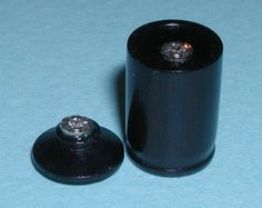 Brian Taylor - Miniature thimble in a box, African Blackwood with illusion set diamond chip on each.