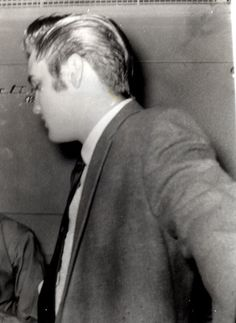 """Kay Wheeler: """"MR. SIDEBURNS 1956-- I took this photo of Elvis on October 11, 1956--right before he went out on the field at the Cotton Bowl where 26,500 paid tickets--largest show for 30 years--happened. I and the fan club set up this concert in Dallas --not Parker! We had a write in campaign to Radio Station KLIF--and they sponsored it. Love that blonde ducktail.You never saw this photo, I just found it tonight in my archives."""""""