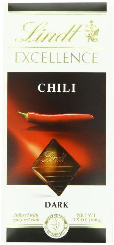 Lindt Excellence Chili Dark Chocolate Bar 35 Ounce Package ** To view further for this item, visit the image link.