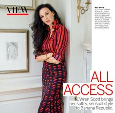 L'Wren Scott in Vogue, beautiful in red.