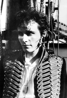 "Adam Ant shooting the cover for the Adam and the Ants ""Ant Music"" single"