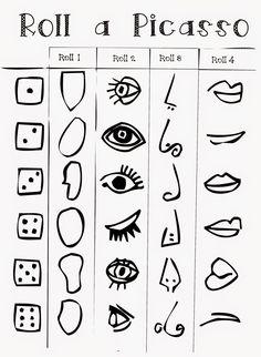 Bildergebnis für roll a picasso Kunst Picasso, Art Picasso, Pablo Picasso, Picasso Drawing, Picasso Kids, Picasso Self Portrait, Middle School Art, Art School, Ecole Art