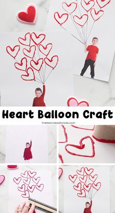 Valentine Heart Balloon Craft - such a fun and easy Valentine's day craft for kids! Perfect for toddlers or preschool too. day crafts for kids toddlers Valentine Heart Balloon Craft Preschool Valentine Crafts, Valentine's Day Crafts For Kids, Valentines Day Activities, Valentines Crafts For Preschoolers, Quotes Valentines Day, Valentines For Kids, Valentine Heart, Valentines Day Hearts, Ballons Saint Valentin