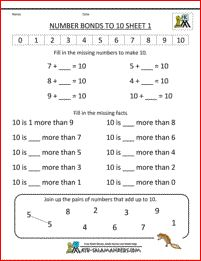 Number Bonds Worksheets St Grade Math Worksheets Number Bonds To - Veigia Number Bonds To 20, Number Bonds Worksheets, Number Worksheets Kindergarten, Free Worksheets, Numbers For Kids, Math Numbers, Engage Ny Math, Year 1 Maths, Math Pages