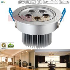 15W (5X3W) Directional LED Downlight Fixture - Aimable and Dimmable