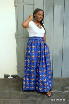 Ankara Maxi Skirt by Adinkra Expo on Etsy , full length skirt, African print fashion, african fashion