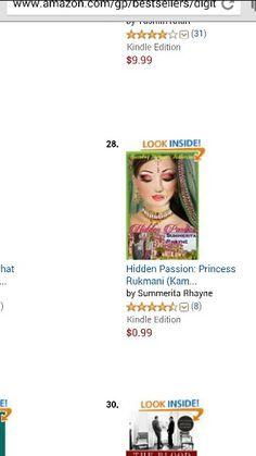 At no.28 in Kindle ebooks subcategory  http://www.amazon.com/Hidden-Passion-Princess-Rukmani-Princesses-ebook/dp/B00RBUM0EG