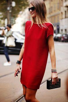 vestir vermelho street fashion
