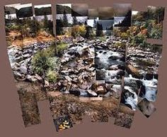 River photomontage - David Hockney