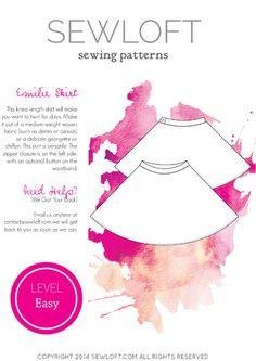 digital emilie skirt sewing pattern
