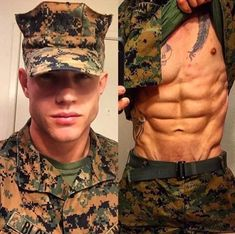 Ok well, it looks like I need me a military man! For more photos, gifs, and videos of gorgeous men, head to Hot Army Men, Sexy Military Men, Hot Men, Interacial Couples, Hot Cops, Hunks Men, Hommes Sexy, Men In Uniform, Shirtless Men