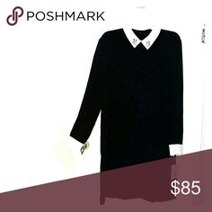Victoria Beckham for target bunny dress Black with white collar and sleeves.  Oh so cute Dresses Long Sleeve