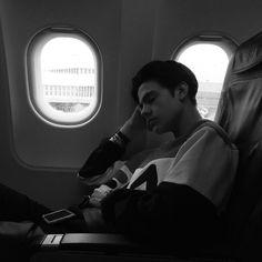 Fast asleep before take off
