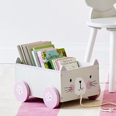 Pinterest: rayray0033  / /    Book Storage Cart - Miss Cat