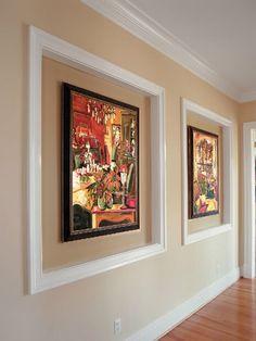 Wand Dekoration mit Bildern - 29 kunstvolle Wandgestaltung Ideen