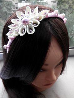 Kanzashi Fabric Flowers/Kanzashi headband/Kanzashi от AirinFlowers