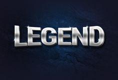 Legend 3D Metal Text Effect, #3D, #Free, #Graphic #Design, #Metallic, #PSD, #Resource, #Text_Effect, #Typography