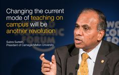 Subra Suresh at the World Economic Forum Annual Meeting of the New Champions 2014.