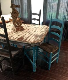 Service Ad*** Shabby Chic Dining Room Table Set is SOLD – Let us recreate this look for you! Antique Dining Rooms, Shabby Chic Dining Room, Shabby Chic Antiques, Shabby Chic Kitchen, Shabby Chic Homes, Shabby Chic Furniture, Shabby Chic Decor, Dining Room Table, Kitchen Tables
