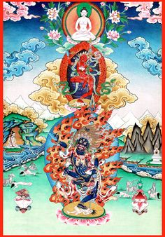 Mandala of Vajrayogini (Buddhist Deity) - Krodha Kali (Wrathful Black Varahi) Tibet Tibetan Art, Tibetan Buddhism, Buddhist Art, Tibetan Mandala, Tibet Tattoo, Shiva, Krishna Krishna, Complex Art, Vajrayana Buddhism