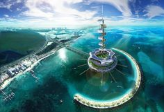 Grand Cancun Eco Island Cleans Up the Ocean While Generating Renewable Energy [Future Energy: http://futuristicnews.com/category/future-energy/ Futuristic Architecture: http://futuristicnews.com/category/future-architecture/]