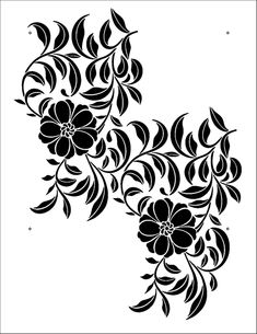 Clematis stencil from The Stencil Library CHINOISERIE range. Buy stencils online. Stencil code CH29.