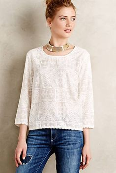 Embroidered Aruna Top