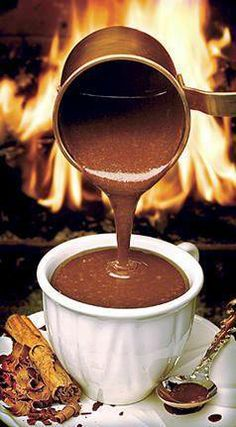 Chocolate quente. Hummm!