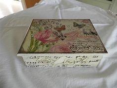 Mostrar detalles para Caja de té Vintage flor