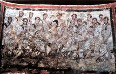 Roma. Cementerio de Via Anapo. Jesús con los Apóstoles
