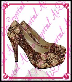 228.00$  Watch here - http://ali64k.worldwells.pw/go.php?t=32668416114 - Aidocrystal Women's shoes Brown Crystal Flower Rhinestone Genuine Leather low heel Mixed colors Evening Shoes 228.00$