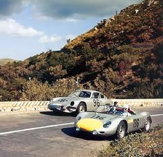 "Stirling Moss ( with Graham Hill) ,Porsche 718 RS 61. Targa Florio 1961 ""Those Porsches seemed to do well with everybody everywhere"" KB"