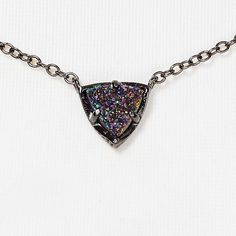 Multicolor Drusy Kendra Scott Perry Necklace NWT. Sold out and discontinued. Comes with Kendra Scott dust bag. If I don't sell for the right price, I will keep it for myself. Will sell for cheaper on Mercarí Kendra Scott Jewelry Necklaces