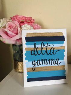 Delta Gamma Sorority Canvas Painting // Big Little Gift //