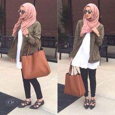 olive jacket hijab style- Eid hijab ready to wear http://www.justtrendygirls.com/eid-hijab-ready-to-wear/