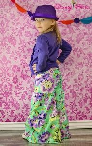 Girls Palazzo pants PDF sewing pattern  from create kids couture