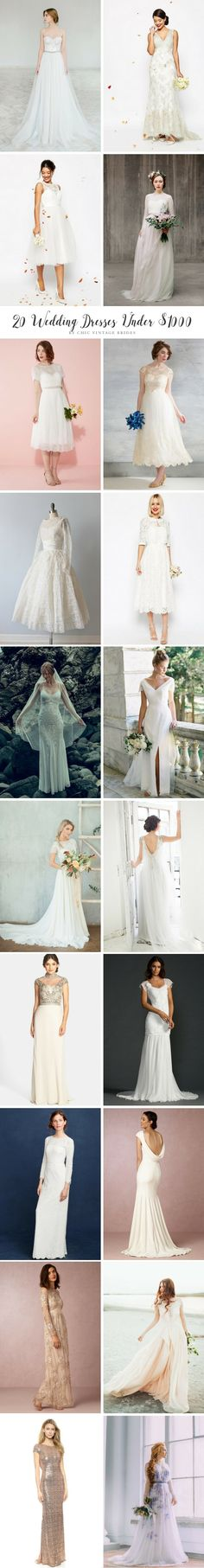 20 of the most incredible budget friendly wedding dresses!!