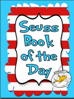 Suess book of the day freebie on Teachers Notebook - Re-pinned by @PediaStaff – Please Visit http://ht.ly/63sNt for all our pediatric therapy pins