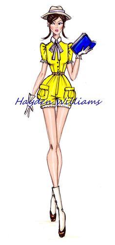 Hayden Williams Fashion Illustrations, The Disney Divas collection by Hayden Williams:...