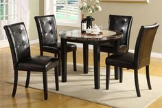 Round Glass Dining Table Set For 4 Granite Dining Table Dining Room Tablescapes 800x533