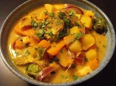 Saturday, 10/13/12  Thai Vegetable Curry. Fred found some old slow cooker recipe I must have printed out long ago. It's a great dish and even better for lunch the next day. The linked recipe isn't exactly what we had but it's close. Try it!