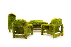 living moss furniture on Behance Statue, Live, Furniture, Behance, Household Products, Design, Extensions, Attitude, Composition