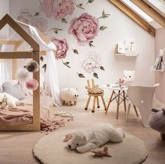 [New] The Best Home Decor (with Pictures) These are the 10 best home decor today. According to home decor experts, the 10 all-time best home decor. Toddler Room Decor, Toddler Rooms, Baby Room Decor, Room Decor Bedroom, Kids Room, Girls Flower Bedroom, Flower Room, Girls Bedroom, Kids Bedroom Designs