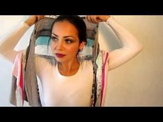 How To Tie The ShariRose Infinity Scarf Tichel Head Scarf - YouTube