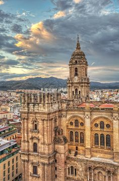 Malaga Cathedral in Spain. Our tips for things to do in Malaga… Granada, Santa Cruz Bolivia, The Places Youll Go, Places To See, Places To Travel, Travel Destinations, Travel Tips, Travel Checklist, Travel Packing