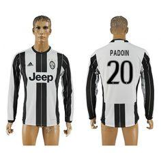 Juventus 16-17 #Padoin 20 Hjemmebanetrøje Lange ærmer,245,14KR,shirtshopservice@gmail.com