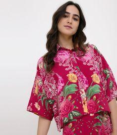 Camisa feminina Manga curta Floral Marca  Blue Steel Tecido  viscose  Composição  100% 8a7c6bde78329