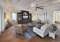Olde Florida Style Home | Home Adore - modern coastal style living room